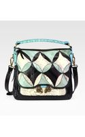 Derek Lam Small Anthea Snake embossed Leather Shoulder Bag - Lyst