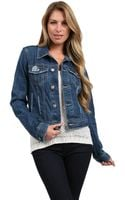 Free People Rip Denim Jacket - Lyst