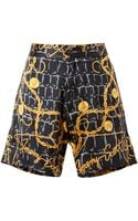 Jeremy Scott Scarf Printed Silk Shorts - Lyst