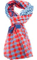 Marc By Marc Jacobs Checked Patchwork Shawl - Lyst