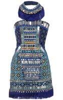 Matthew Williamson Embroidered Beaded Sleeveless Dress - Lyst