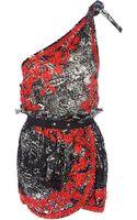 Isabel Marant Natacha One Shoulder Dress - Lyst