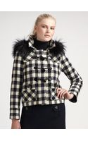Milly Fox Fur Collar Jacket - Lyst