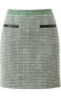 Proenza Schouler Basketweave Tweed Miniskirt - Lyst
