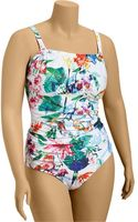 Old Navy Plus Ruched Bandeau Swimsuits - Lyst