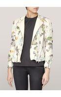 3.1 Phillip Lim Floral Corded Biker Jacket - Lyst