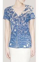 Emilio Pucci Printed Cottonsilk Tshirt - Lyst