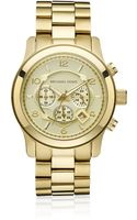 Michael Kors Oversized Gold Chronograph Watch - Lyst