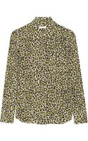 Equipment Brett Leopardprint Washedsilk Shirt - Lyst