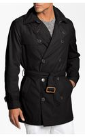 Cole Haan Double Breasted Trench Coat - Lyst