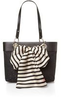 DKNY Black Small Scarf Tote Bag - Lyst