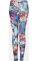 Topshop Graphic Graffiti Print Leggings - Lyst