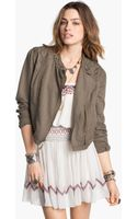 Free People Cutwork Linen Blend Jacket - Lyst