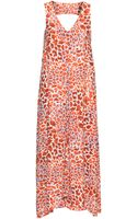 H&M Long Patterned Dress - Lyst