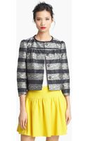 RED Valentino Collarless Lace Jacquard Jacket - Lyst