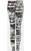 Topshop Graffiti Scuba Leggings - Lyst