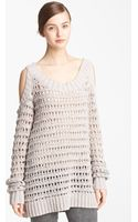 Donna Karan New York Collection Cold Shoulder Sweater - Lyst