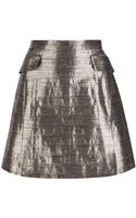 McQ by Alexander McQueen Metallic Mini Skirt - Lyst