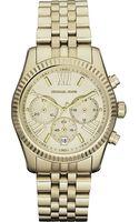 Michael Kors Goldplated Chronograph Watch - Lyst