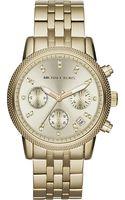 Michael Kors Goldtoned Chronograph Watch - Lyst