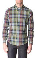 Ralph Lauren Plaid Slimfit Single Cuff Shirt - Lyst