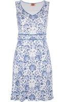 Tory Burch Floral Silk Dress - Lyst
