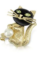 Az Collection Greeneyed Cat Pin - Lyst