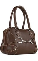 Buti Dark Brown Italian Pebble Calf Leather Satchel Bag - Lyst