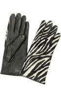 Forzieri Womens Zebra Pony Hair and Italian Nappa Leather Gloves - Lyst