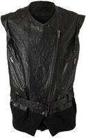 Haider Ackermann Cracked Leather Gilet - Lyst