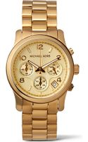 Michael Kors Goldplated Chronograph Watch Gold - Lyst