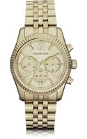 Michael Kors Mid-size Golden Lexington Chrono Watch - Lyst