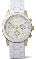 Michael Kors Gold-plated Pvd Chronograph Watch - Lyst
