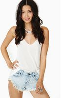 Nasty Gal Bonitas Cutoff Shorts Bleach - Lyst