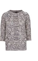 Mango Cable-knit Flecked Jumper - Lyst