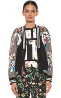 3.1 Phillip Lim Souvenir Coating Embroidered Jacket in Blackwhitefloral - Lyst