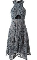 Carven Macramé Lace and Silk Dress - Lyst