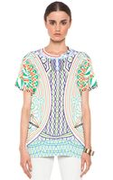 Mary Katrantzou Jersey Tee Shirt in Whitegeometric Print - Lyst