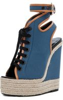 Pierre Hardy Canvas Wedge in Blue - Lyst