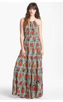 T-bags Tiered Print Maxi Dress - Lyst