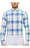 Gant Rugger Handloom Madras H Spread Collar Shirt - Lyst