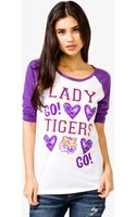 Forever 21 Louisiana State Lady Tigers Baseball Tee - Lyst