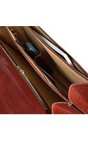 L.a.p.a. Classic Cognac Leather Briefcase - Lyst