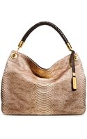 Michael Kors Large Skorpios Snake Embossed Shoulder Tote - Lyst