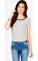 Forever 21 Striped Tee - Lyst