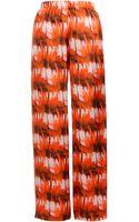 Zero + Maria Cornejo Ila Printed Satin Trousers - Lyst
