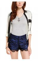Akira Lace Overlay Tap Shorts in Blue - Lyst