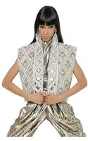 Balmain Embroidered Laminated Nappa Vest - Lyst