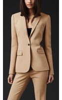 Burberry Prorsum Contrast Collar Tailored Jacket - Lyst