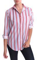 Current/Elliott Prepschool Shirt Pajama Stripe - Lyst